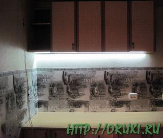 Подсветка для кухни на светодиодах