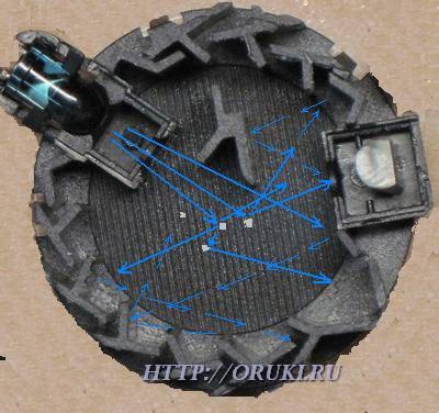 Оптическая камера ДИП с частицами дыма
