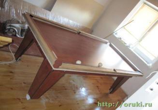 Проверка створа луз бильярдного стола