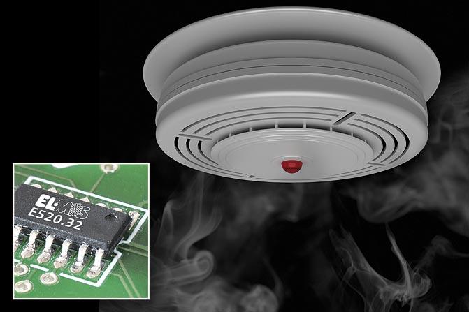 Elmos предоставила разработчикам микросхему детектора дыма с интерфейсом шлейфа сигнализации.  Новости.